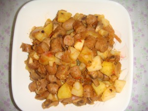 Spicy Sausage with Potatoes