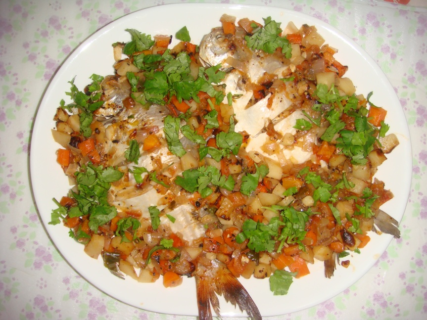Fish in Turkish style (Pilaki)