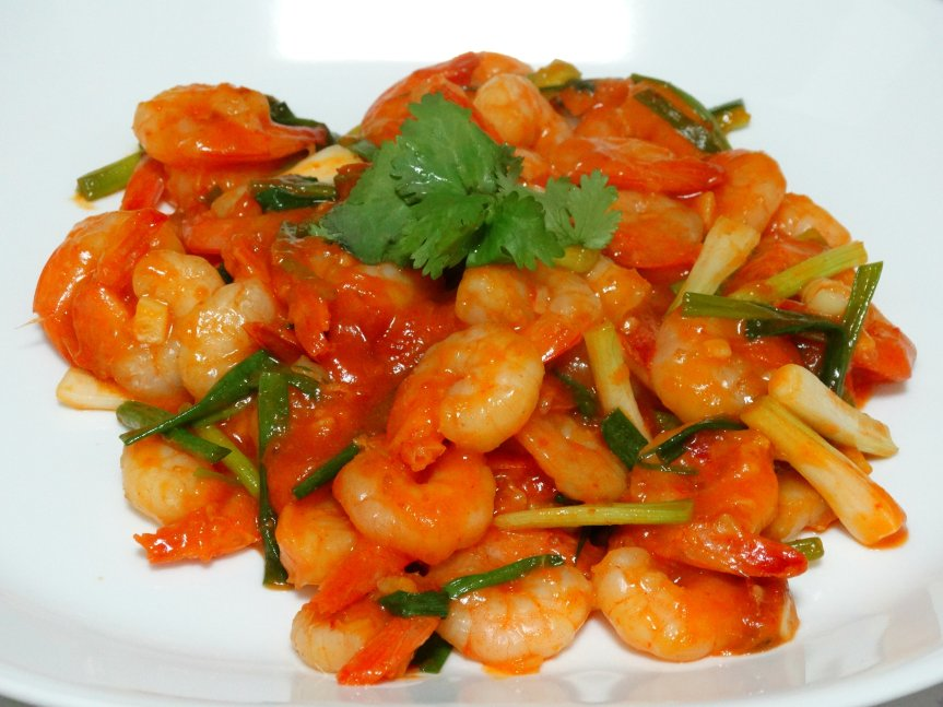 Shrimps with Sweet and Sour Chili Sauce