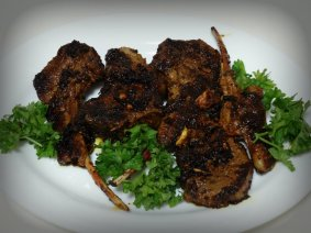Lamb cutlets in Moroccan Style