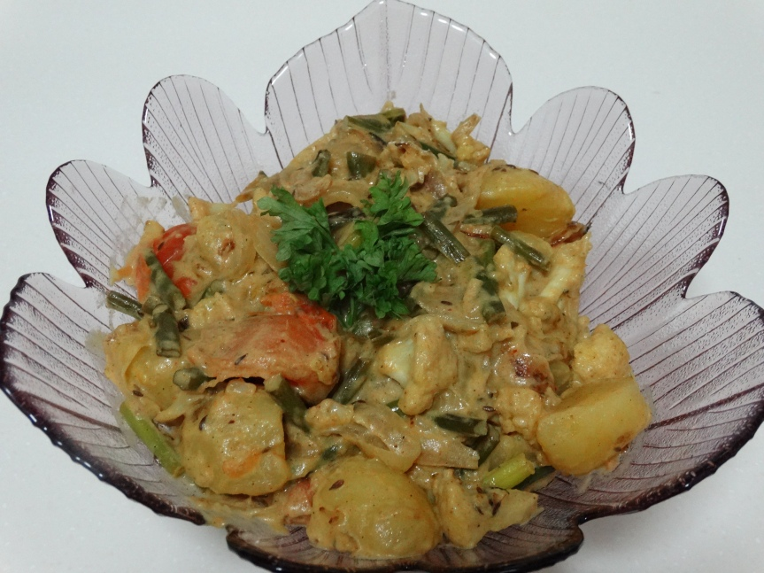Vegetables in a Creamy Coconut Sauce