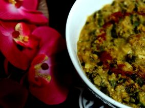 Lentils with Lady's fingers