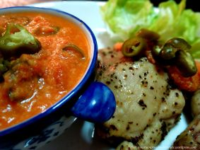 Herbed Chicken with Cheesy Tomato Sauce