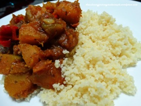 Pumpkin served with Couscous